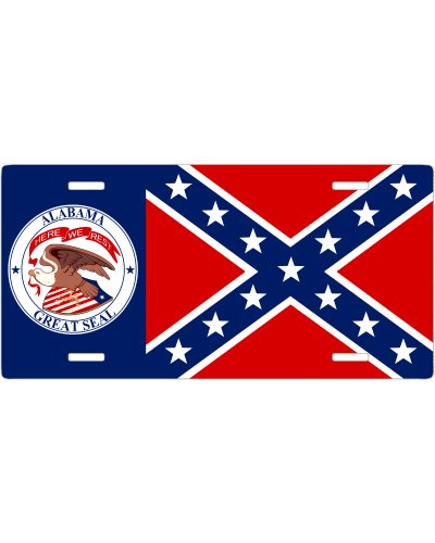 Alabama Great Seal Confederate no fade car tag