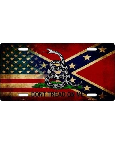 c72a9df696c American Confederate Battle Don t Tread car tag