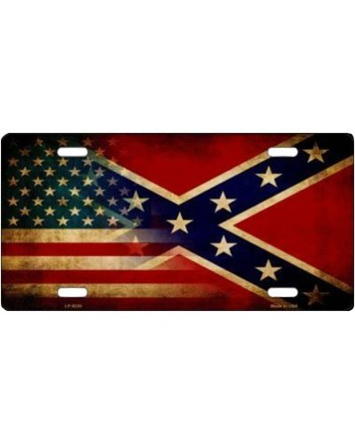 American Confederate Battle car tag