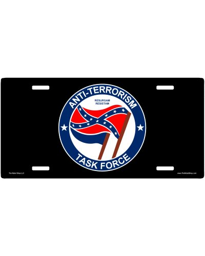 Anti-Terrorism Task Force no fade car tag