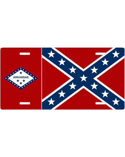 Arkansas Confederate no fade car tag