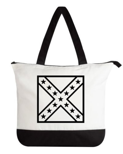 Army of Northern Virginia Battle Flag outline deluxe tote bag