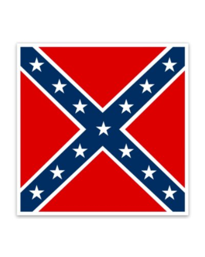 Confederate Army of Northern Virginia Battle Flag car magnet