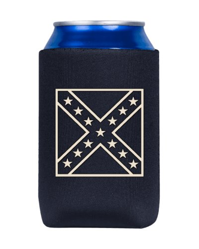 Army of Northern Virginia metallic flag outline can cooler