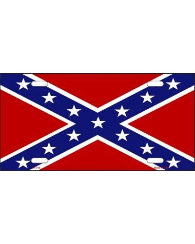 Confederate Battle Flag car tag