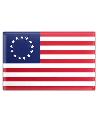 Betsy Ross Flag button