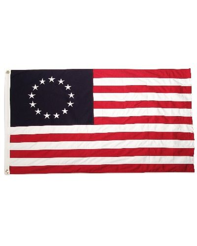 Betsy Ross 3'x5' embroidered cotton flag