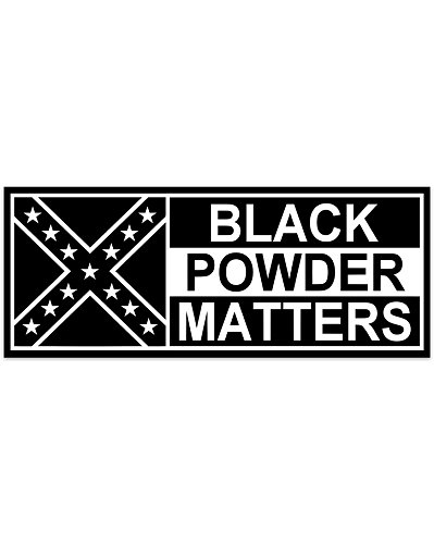 Black Powder Matters bumper sticker