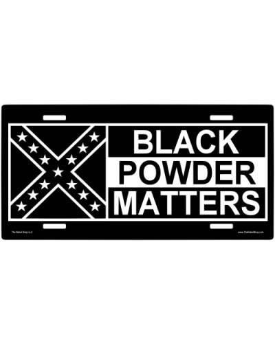 Black Powder Matters car tag
