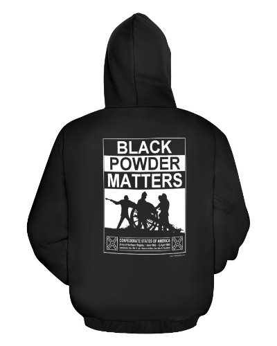 Black Powder Matters (Confederate Artillery) cotton hoodie