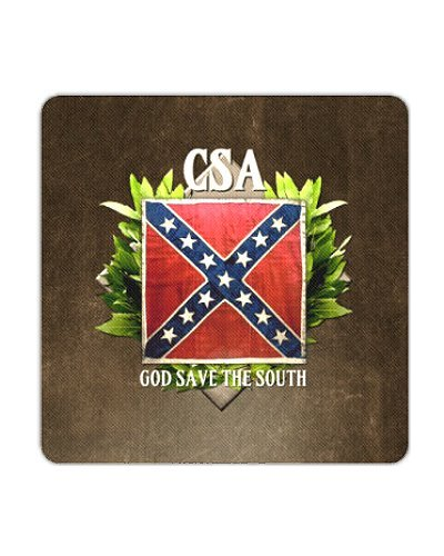 CSA God Save the South premium coasters