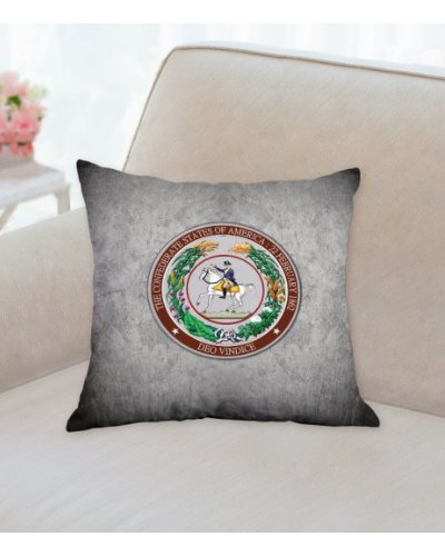 Great Seal of the Confederacy throw pillow
