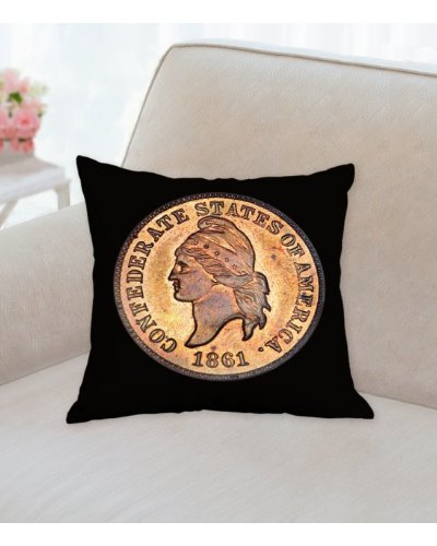 CSA Liberty cent throw pillow