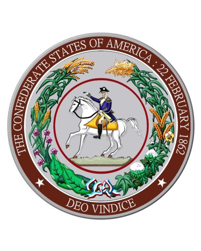 Great Seal of the Confederacy circular metal sign