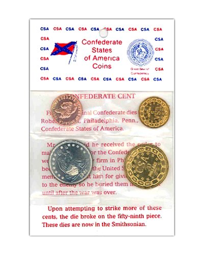 replica Confederate States coin set