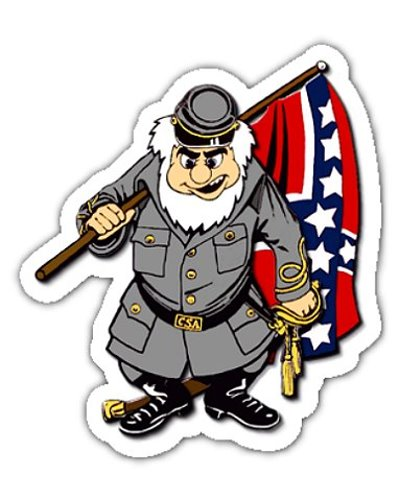 Cartoon Confederate Soldier die-cut magnet