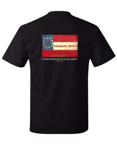 Cherokee Braves battle flag t-shirt