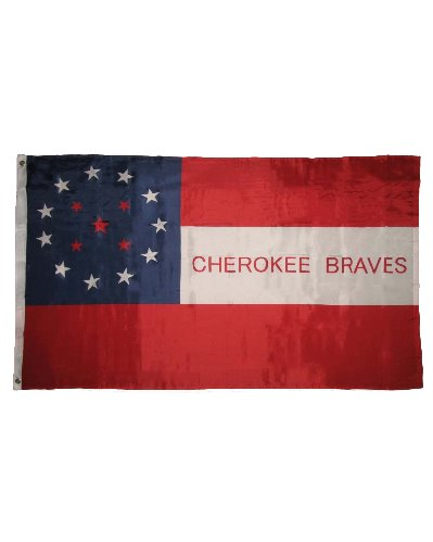 Cherokee Braves 3'x5' printed polyester flag