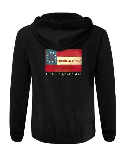 Cherokee Braves Battle Flag cotton hoodie