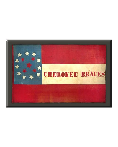 Cherokee Braves battle flag refrigerator magnet