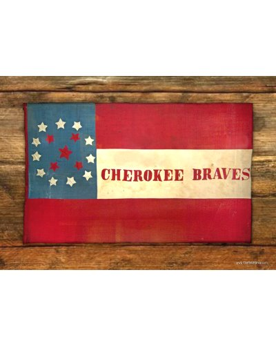 Cherokee Braves battle flag postcard magnet