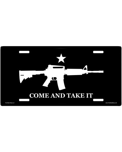 Come and Take It AR-15 no fade car tag