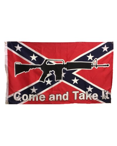 Confederate Come and Take It 3'x5' printed polyester flag