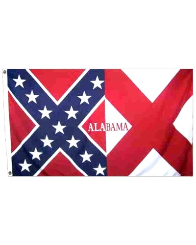 Confederate Alabama printed polyester flag