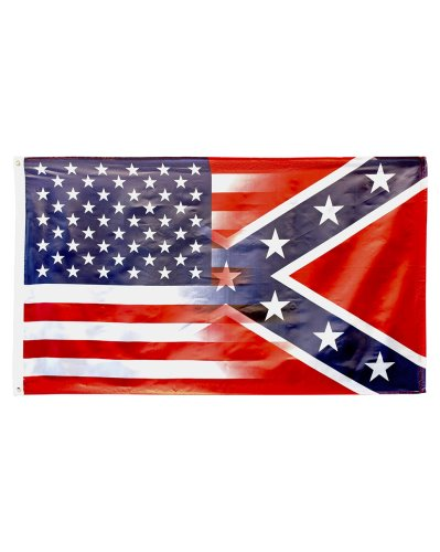 Half 'n' Half United States/Confederate printed polyester flag
