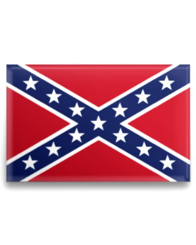 Confederate Army of Tennessee Battle Flag button