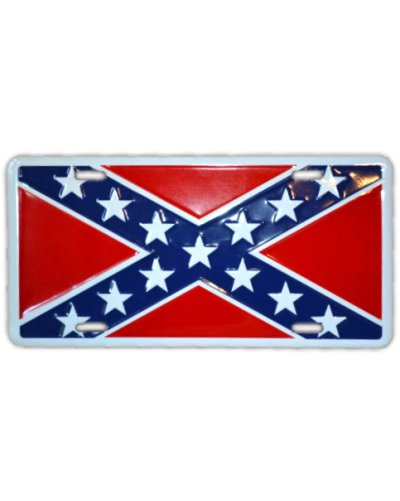 Confederate Army of Tennessee Battle Flag embossed car tag