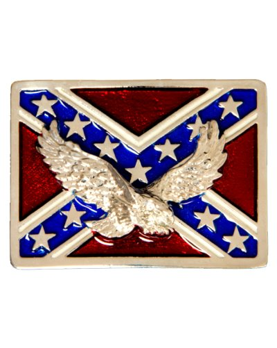 Confederate Army of Tennessee Battle Flag and Eagle belt buckle