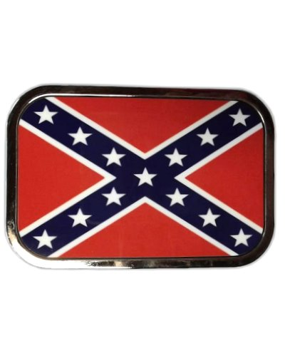 Confederate Army of Tennessee Battle Flag chrome belt buckle