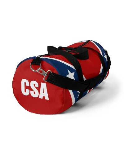 Confederate Battle Flag CSA all over print duffel bag