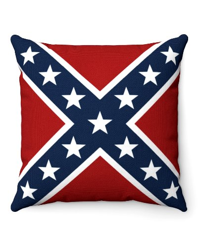 Confederate Battle Flag throw pillow