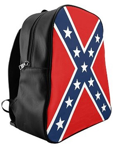Confederate Battle Flag faux leather backpack