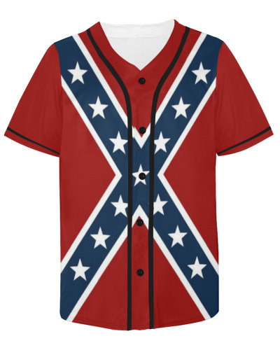 Confederate Battle Flag baseball jersey