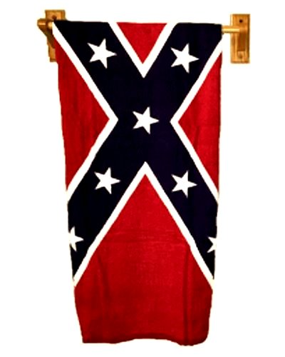 Confederate Battle Flag bathroom towel set