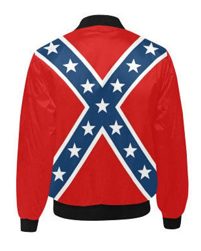 Confederate Battle Flag quilted bomber jacket