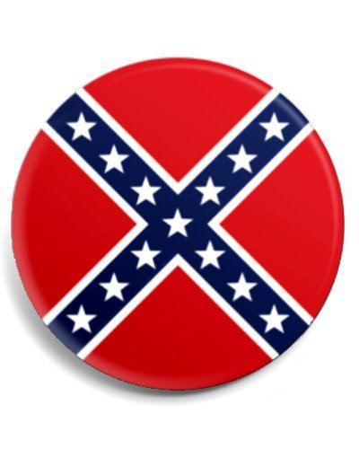 Confederate Battle Flag button