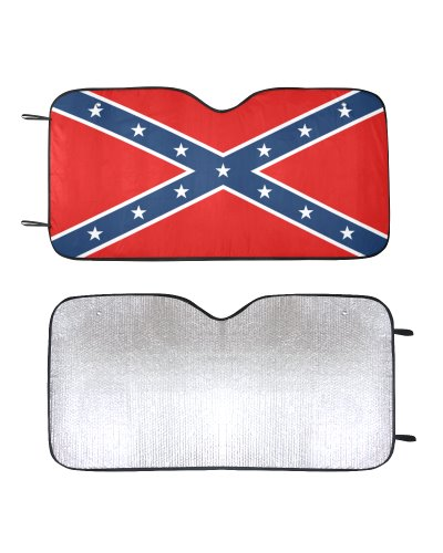 Confederate Battle Flag car sun shade