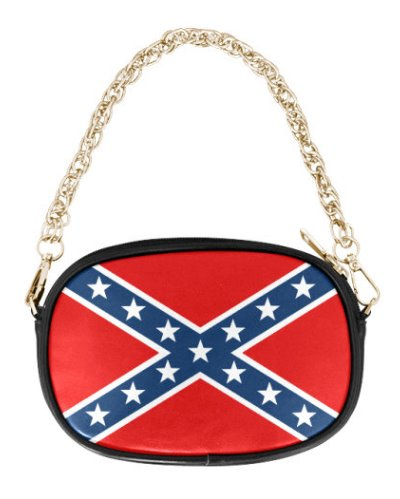 Confederate Battle Flag chain purse