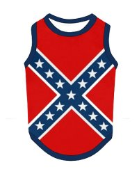 Confederate Battle Flag pet tank top