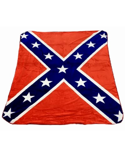 Confederate Battle Flag faux fur luxury blanket