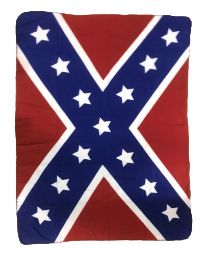 Confederate Battle Flag fleece blanket