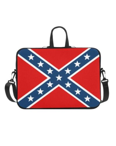 Confederate Battle Flag laptop case