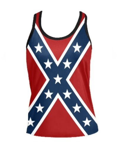 Confederate Battle Flag women's racerback tank top