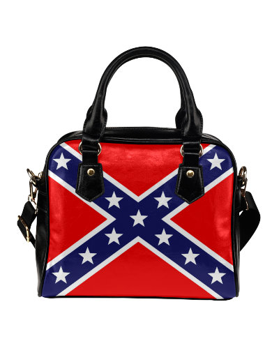 Confederate Battle Flag shoulder handbag