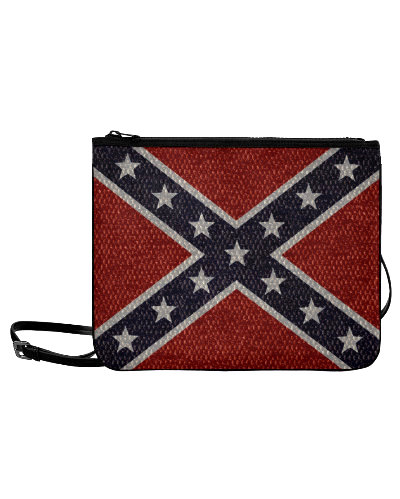 Confederate Battle Flag snakeskin pattern clutch bag
