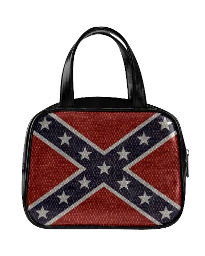 Confederate Battle Flag snakeskin pattern basic handbag